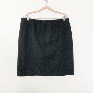 J. Jill Pullover Mini Pencil Skirt Black L #4463
